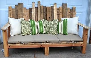 outdoor pallet wood sofa