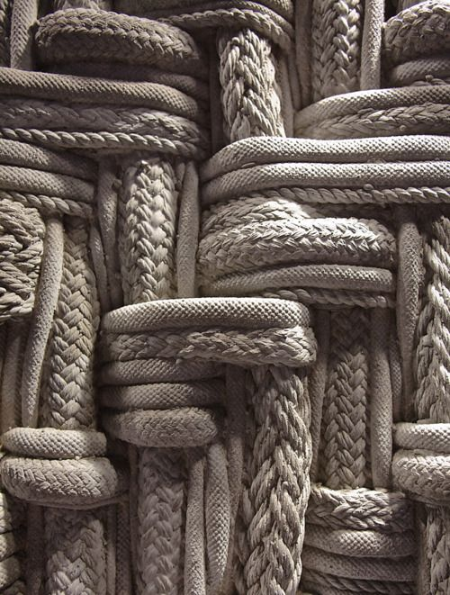 Ropes - part of my seaside ideal.Beauty and strength lie in the plaiting.