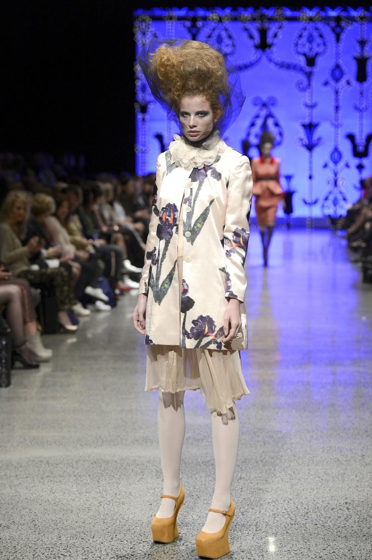 Trelise Cooper Iris Apfel Coat, Frill Steam Ahead Top and Swoon-dust Dress