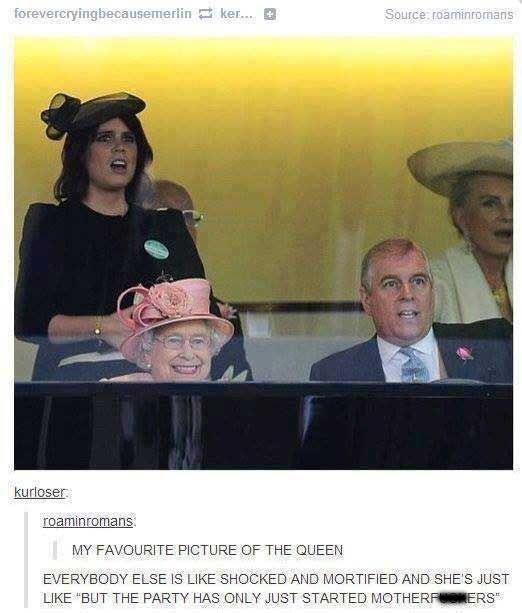 Only pinned because of the picture of the Queen...