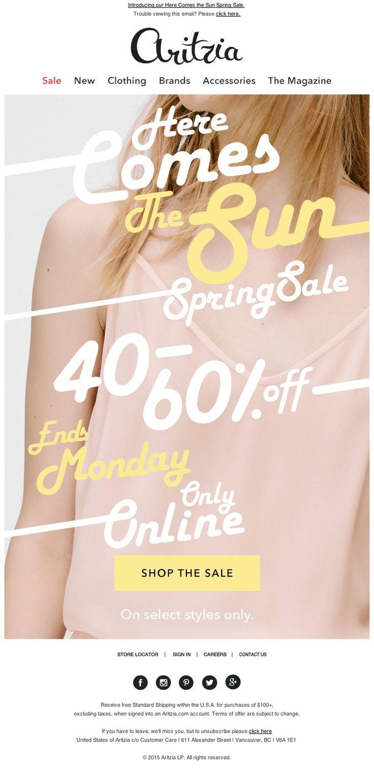 Aritzia - Spring Sale! 40-60% Off!