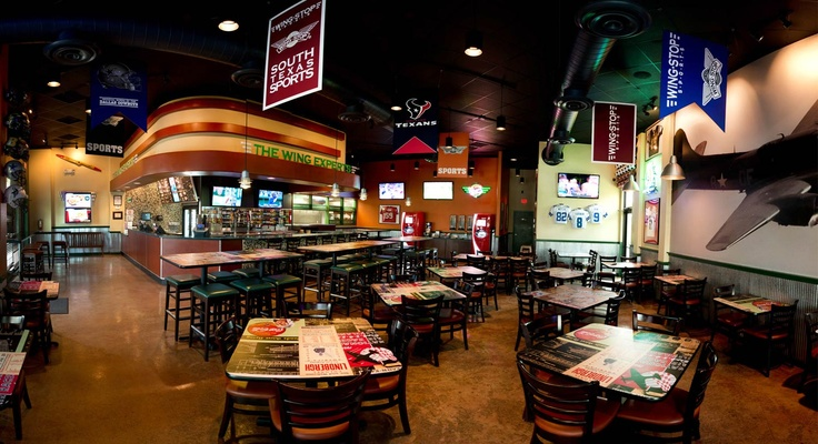 Wingstop Sports.....this is what they should open in Austin...yum yum: Austin Yum Yum, Favorite Places, Man Cave, Wingstop Sports This, Wingstop Moments