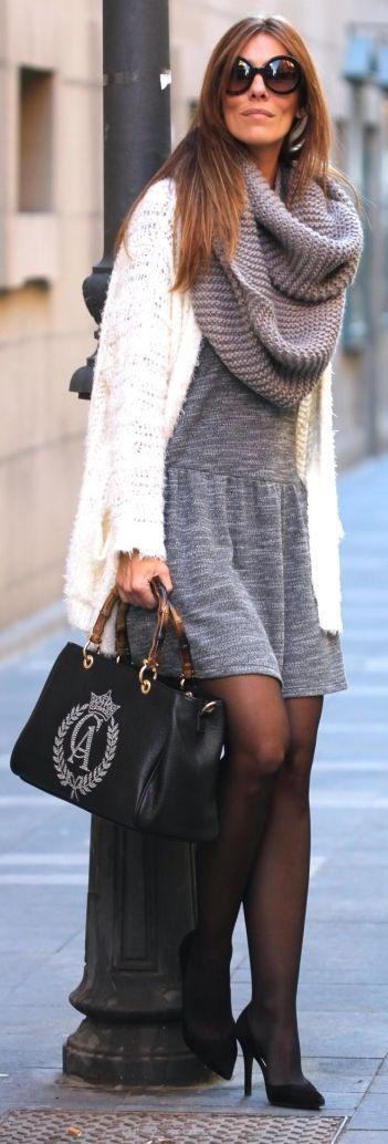 Grey Chunky Knit Scarf by Like A Princess Like.... Kuka