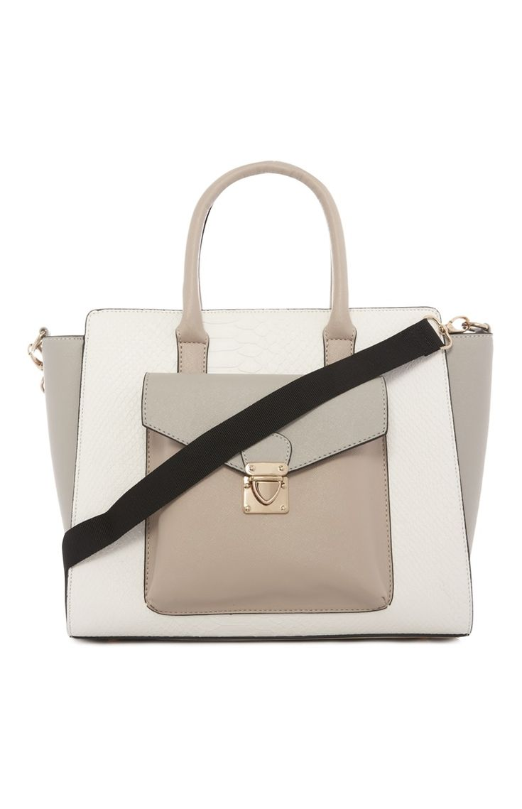 Primark - Nude Structured Winged Tote Bag