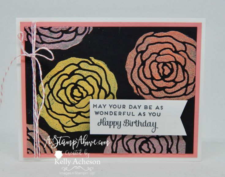 VIDEO TUTORIAL - Bold, bright flowers  - how fun!!!! I have a quick video showing how to color and apply Shimmer Embossing Paste. Just click the photo. www.AStampAbove.com