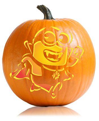 Despicable Me Minion Vampire Pumpkin Stencil