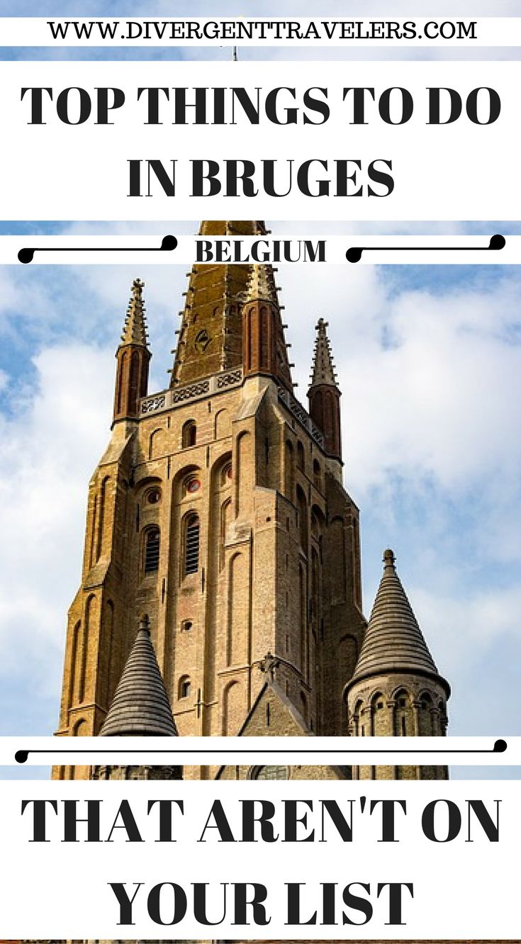 Top things to do in Bruges Belgium that aren't on your list to do. City guide showcasing some of thebest things to do in Bruges,Belgiumincluding the Belfry, a canal tour, and chip shops where you can eat fries with mayo and so much more. Click to read. 3 Day Bruges City Break Guide – Things to do in Bruges #Belgium #Guide #Bruges #Travel