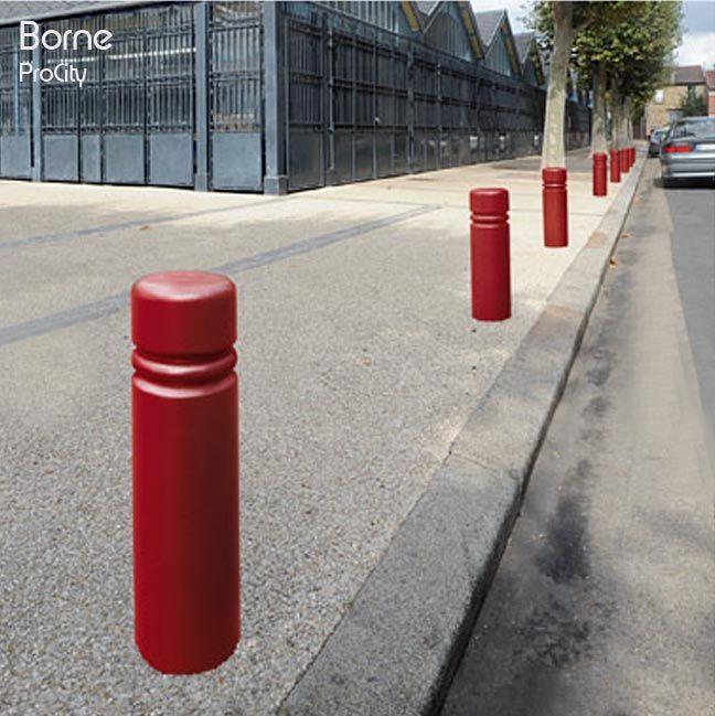 Borne fixe CITY, Ø 160 mm, H 55 cm, Fonte, Design ProCity