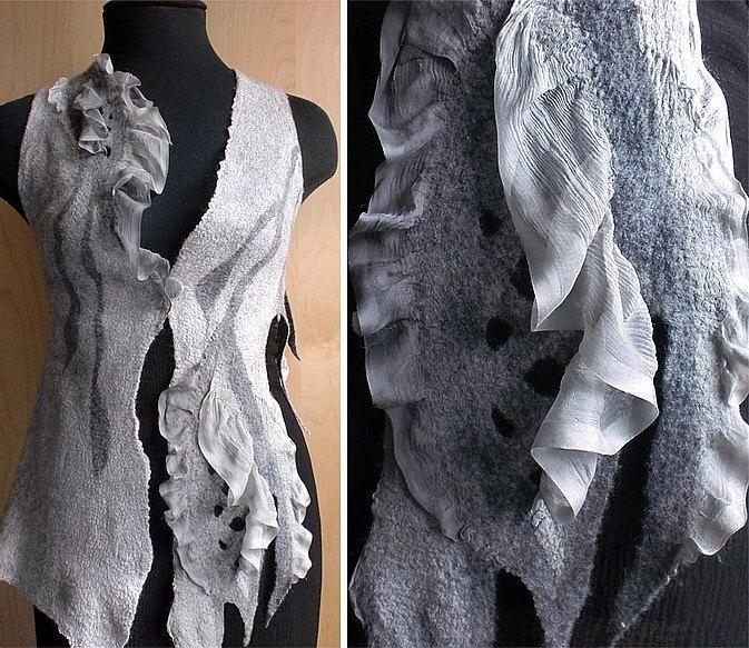 nuno felt clothing - Nuno Felted Vest.via Etsy.