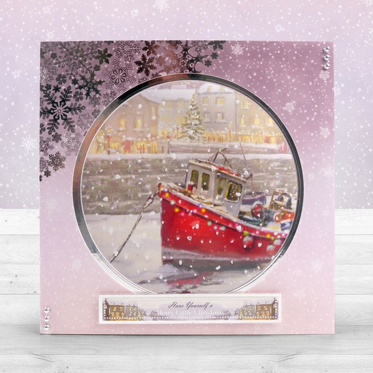 Card created using Hunkydory Crafts' Festive Harbour Topper Set