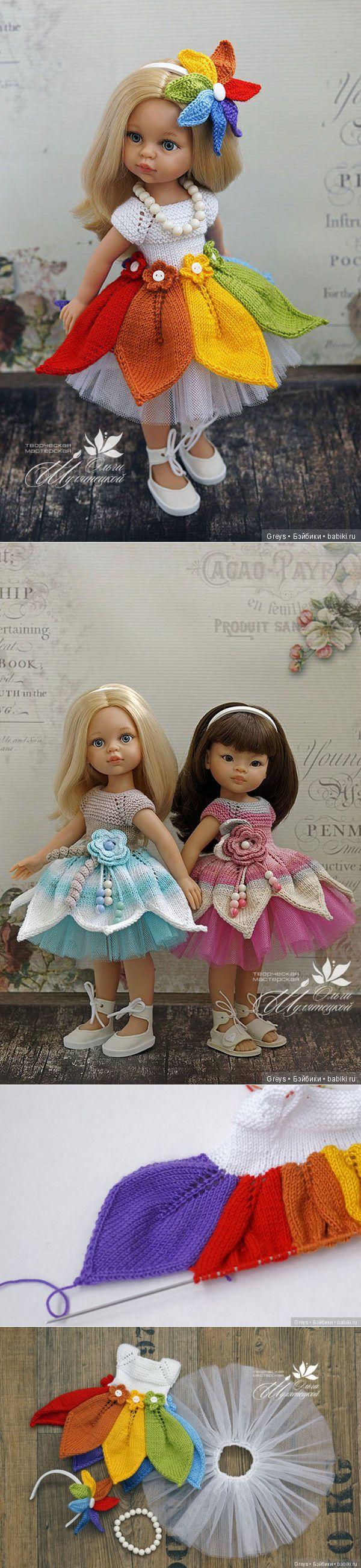 La Clase maestra - el vestido por los rayos para Paolok Akvarelki \/ la Labor de punto para las muñecas \/ Beybiki. Las muñecas de la foto. La ropa para las muñecas // Алина Ганичкина
