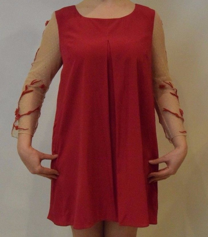 Alice by Temperley Cherry Blossom Red Dress UK 14 RRP £345   #*2