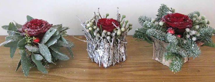 kerststukjes als tafeldecoratie