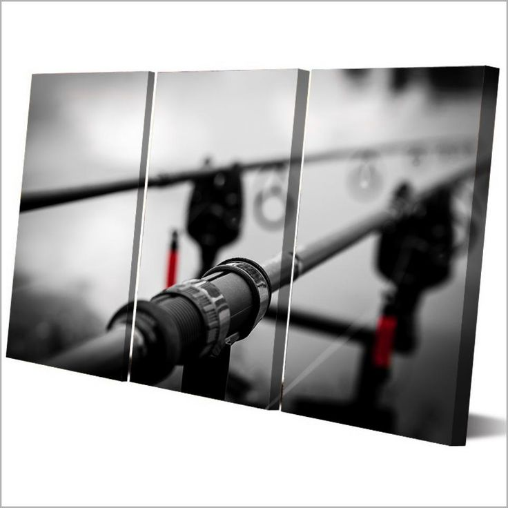 HD Printed 3 Piece Canvas Art Fishing Rod Painting Wall Pictures for Living Room Large Wall Pictures Free Shipping NY-6936C
