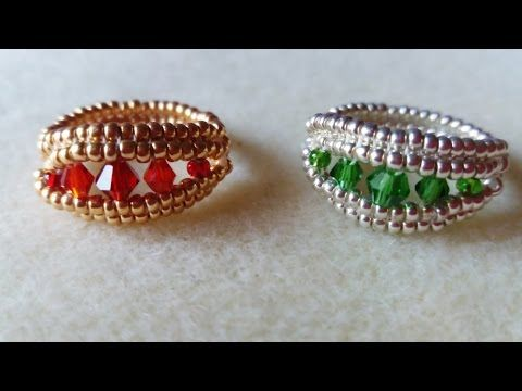 TheHeartBeading: Herringbone Ring Tutorial (no sound) - YouTube