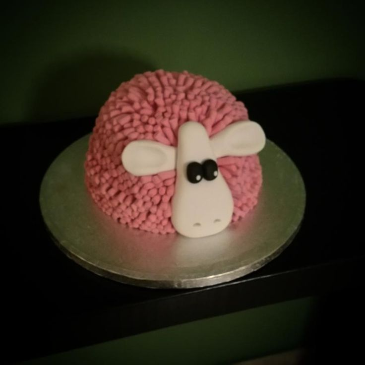 Pink sheep - Cake by nef_cake_deco