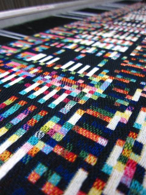 Fragmented memory at the Textielmuseums TextielLab in Tilburg, NL. Phil Stearns, Glitch Textiles.