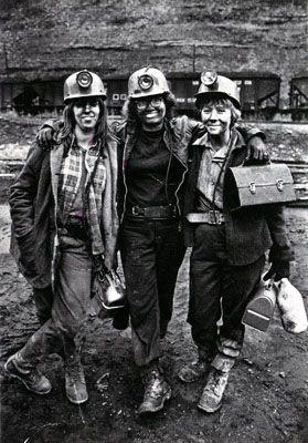 Coal Mining Towns | Women coal miners, Vansant, Va., in 1976. Courtesy Earl Dotter (www ...