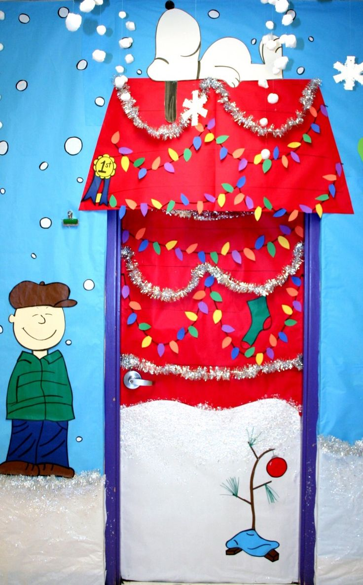 Best Christmas Classroom Decorations : Best christmas door decorations images on pinterest
