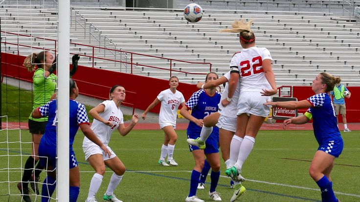 BU Women's Soccer had a 6-0 victory over American in its Patriot League opener