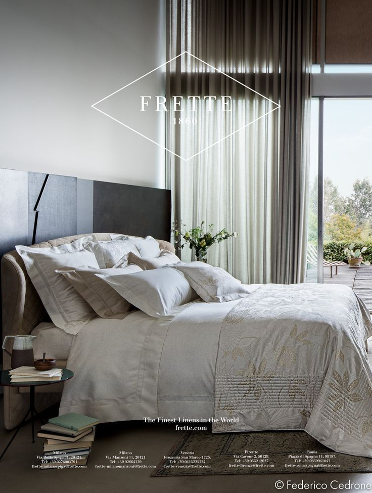 This are the advertising pages 2015.  The images were all made in different location with natural light.  #Italy #Monza #Bed #Soft #Photography #Desing #Sheets #Textile #Fine #Luxurious  #Frette #ADV