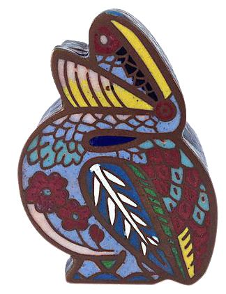 Antique Cloisonné Pelican Box on Chairish.com