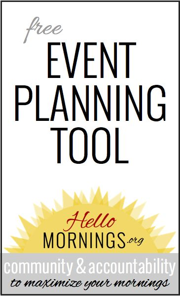 Simple Planning {How to Plan an Event}