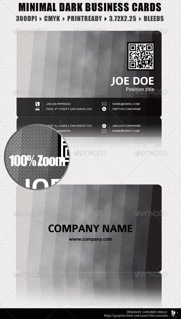 99 best print templates images on pinterest print templates font minimal dark business card is a clean simple to edit and professional card it has a provision to put a qr code colourmoves