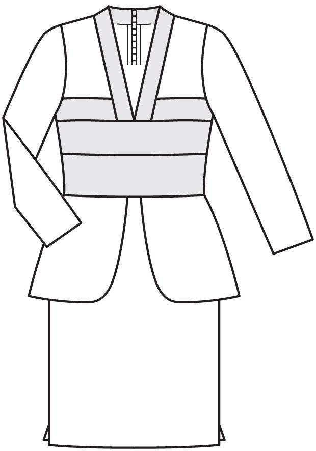 Burdastyle 02-2016-122 В knit dress, 17-21