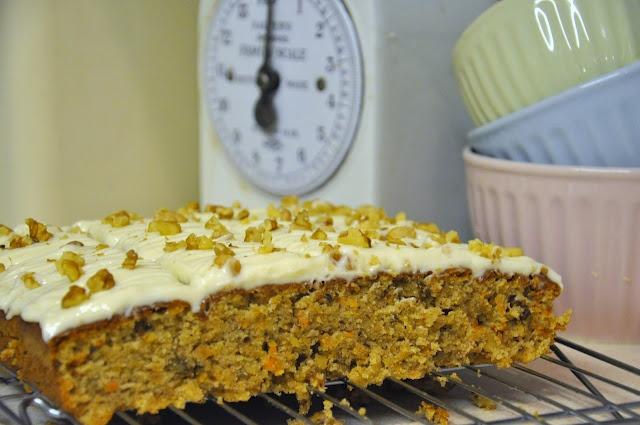 Spiced carrot traybake (original recipe by Mary Berry)