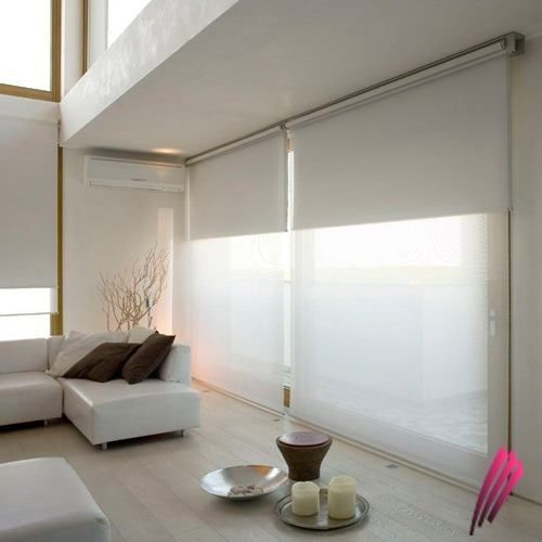 dobles black out mini split aire sofas blancos cortinas