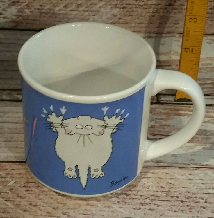 Hang in There Sandra Boynton CAT Vintage 12OZ COFFEE Mug Cup Funny Office Gift