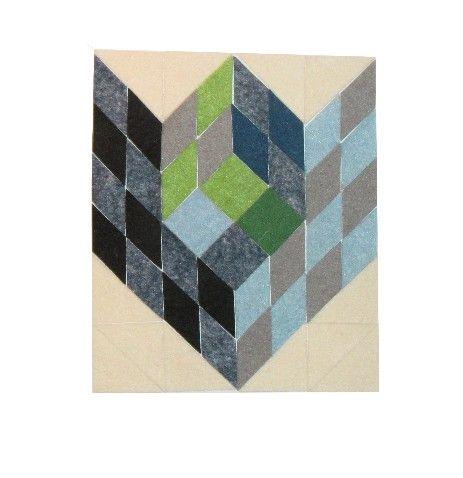 LL Cubes base-2 Felt Op-Art