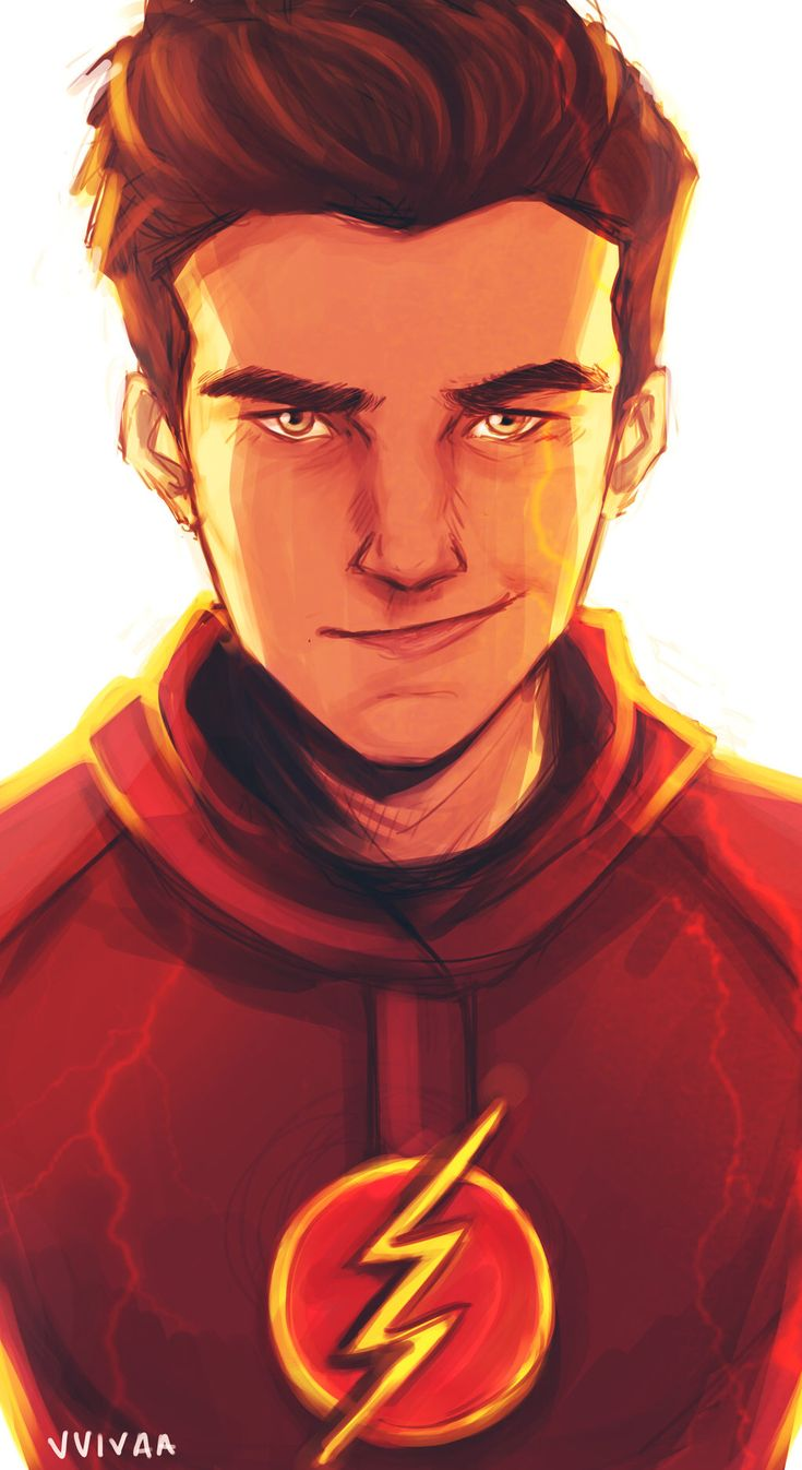 The Flash by vvivaa on @DeviantArtI like this image because it shows the person behind the secret persona but you can still see some of his costume.