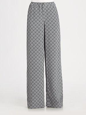 Vince Printed Silk Pajama Pants