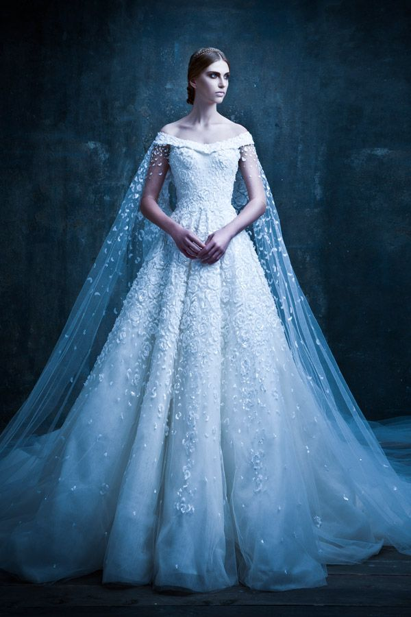 Michael Cinco Couture| Michael Cinco Couture |Mixing embellishment, embroidery, detailed backs and epic trains, his dresses are truly fit for a princess - in fact, much of his clientele is Arabic royalty!|