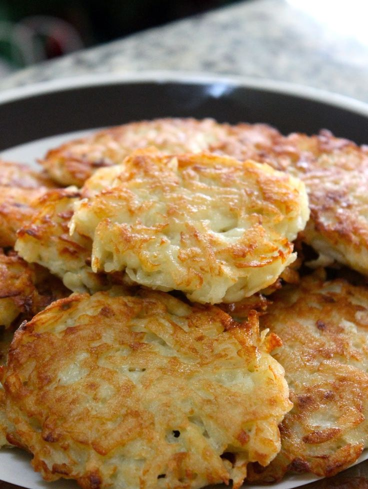 What is a basic recipe for potato pancakes?