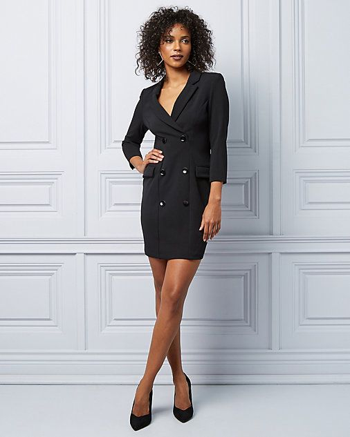 bb9388e9c9c1 Knit Crêpe Blazer Dress