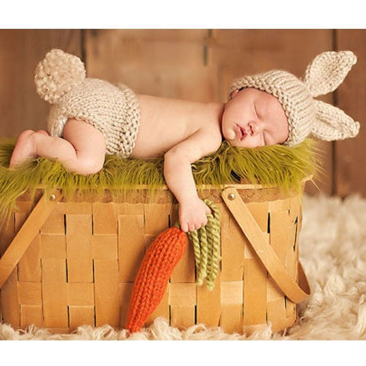 "Now in Stock!! "" Peter Cottontail "" Newborn Baby Hand Made Rustic Bunny w/ Carrot 3 piece Crochet Set Hat Pant / Diaper Cover & Carrot Infant 1st Photo Prop Easter Spring Rabbit"