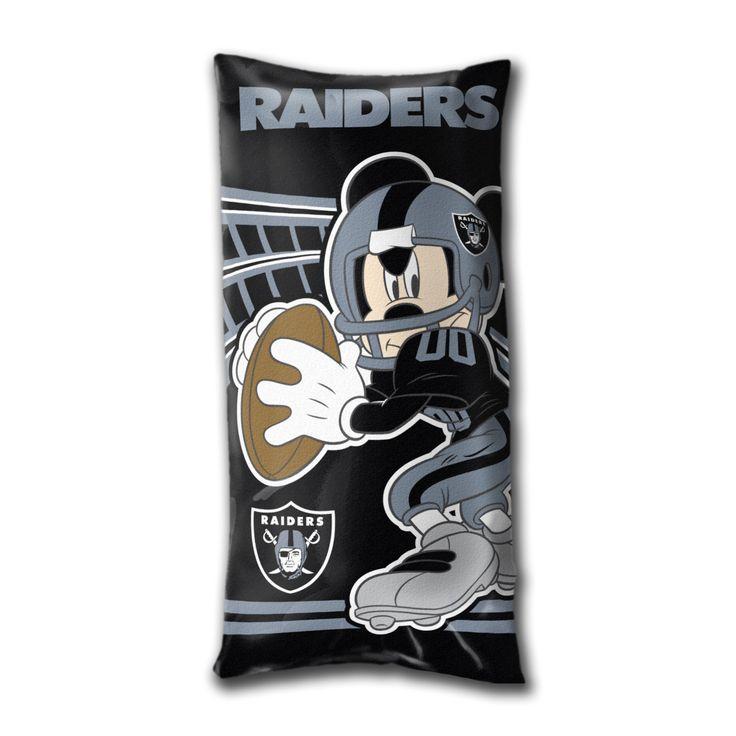 NFL Oakland Raiders Mickey Kids Folding Body Pillow