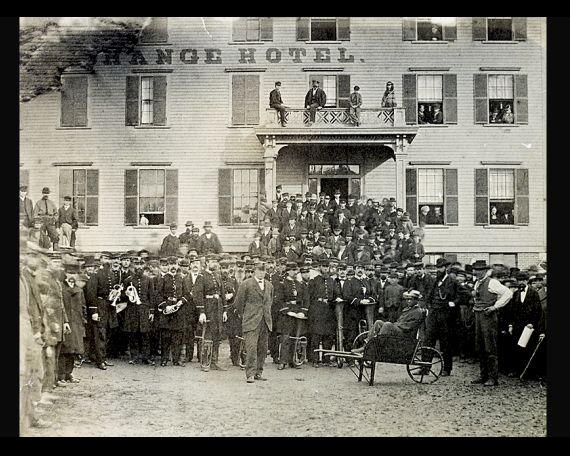 Ceremony for the Signing of the Emancipation Proclamation, 1862     The only known photograph related to the issuing of the Emancipation Proclamation: a crowd and a union band gathered outside a Massachusetts hotel to pose for the photograph, while placing an honored person in a wheelbarrow. — The Burns Archives