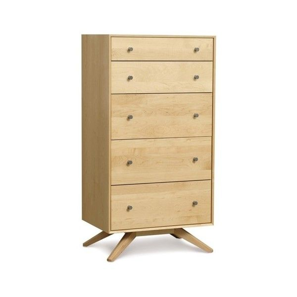 Copeland Astrid 5 Drawer, Saddle Cherry - Midcentury - Dressers - by... ❤ liked on Polyvore featuring home, furniture, storage & shelves, dressers, cherrywood furniture, cherry wood dresser, cherry furniture, copeland furniture and cherry wood furniture