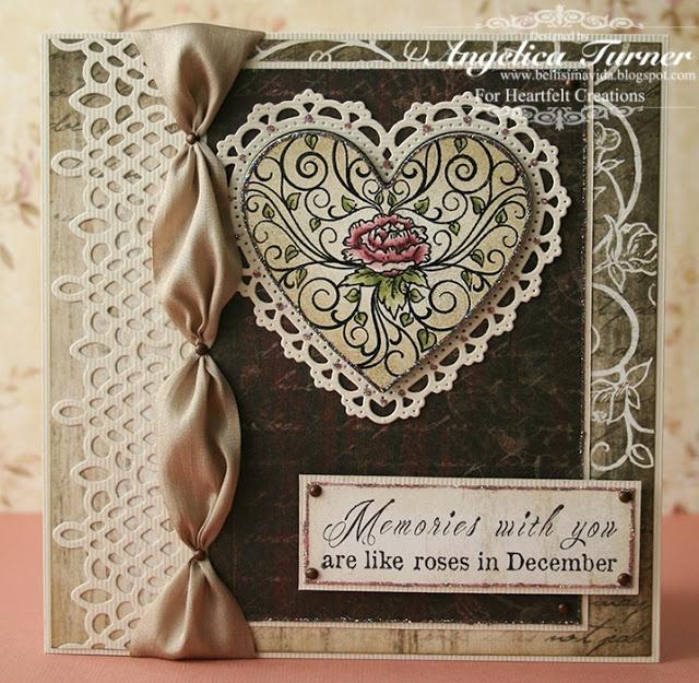 bellisimavida.blogspot.com: Scrapbook Ideas, Beautiful Cards, Cards Ideas, Bellisima Vida, Ribbons Ties, Heartfelt Creations, My Heart, December Heartfelt, Paper Crafts