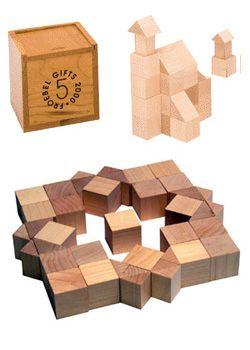 Froebel Gift 5: Triangular Prisms.