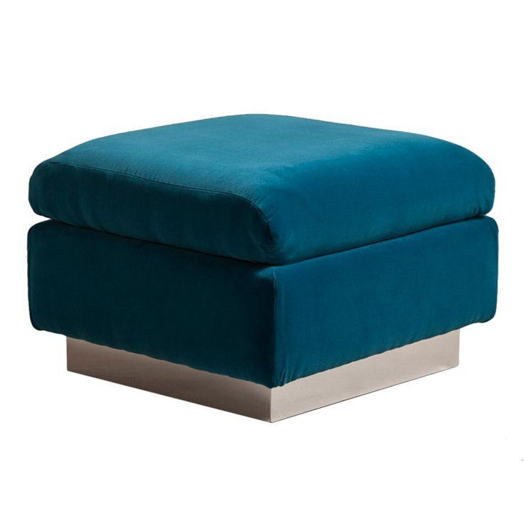 A Milo Baughman designed Velvet Upholstered Footstool 1970s  sc 1 st  Pinterest & Best 25+ Upholstered footstool ideas on Pinterest | Padded coffee ... islam-shia.org
