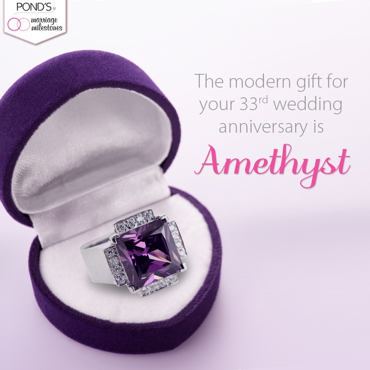 Amethyst is the gift for your 33rd #anniversary. #marriage ...