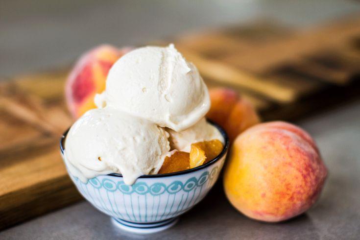 Summer Yellow Peach Gelato - Peaches and brown butter   crème fraiche > peaches and cream