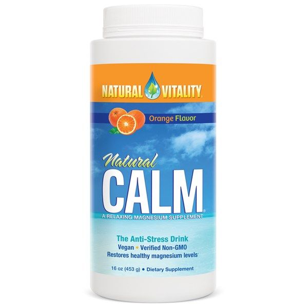 Natural Vitality, Natural Calm, The Anti-Stress Drink, Organic Orange Flavor, 16 oz (453 g)  #stress #formula #support #balance #management #iherb #thingstobuy #shopping #relief