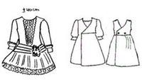 Free printable doll clothes patterns.  These are great!  Includes patterns for dressing antique dolls.