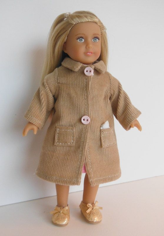 Clothes for Mini American Girl doll, Mini American Girl Clothes, Corduroy Coat for Mini American Girl, Clothes for  6.5 inch American Girl by HoleInMyBucket on Etsy